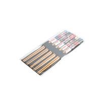 【优选】日式卡通竹制筷子 创意印花竹筷家用5双实用套装10支尖头图腾筷子