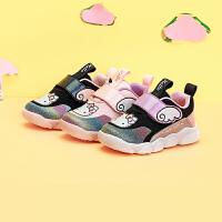 【3折�r:98.7元】HelloKitty�P蒂�童鞋女�����W面�W步鞋小童秋季新款�和��底鞋1-3�qK0533917