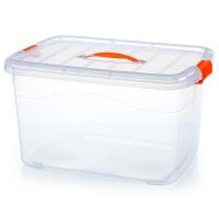 透明收纳箱塑料储物箱整理盒玩具筐大中小号箱子衣周转置物箱