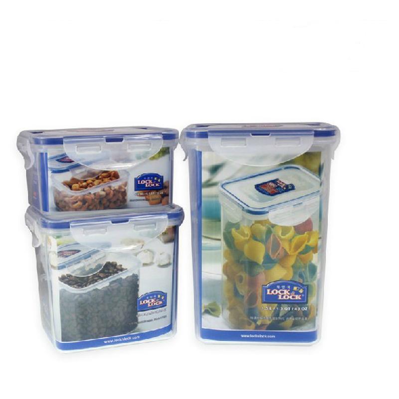 乐扣乐扣塑料保鲜盒礼盒套装3件套微波便当野餐盒HPL807S001 礼盒3件套