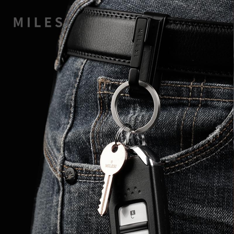 304不锈钢钥匙扣男士腰挂穿皮带钥匙扣挂件创意 裤带钥匙扣男