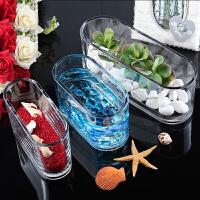 超白透明金鱼缸水族箱玻璃长方形水培植物容器花瓶桌面摆放情人节礼物