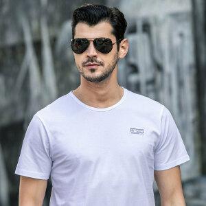 战地吉普AFS JEEP男式短袖T恤 纯棉圆领打底衫 夏装新款男士简约休闲半袖T恤
