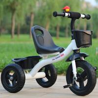 儿童三轮车大号童车小孩自行车婴儿脚踏车玩具宝宝单车2-3-4-6岁 乳白色 顶配钛空轮