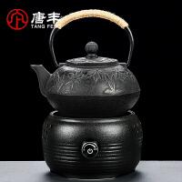 唐丰铁壶烧水套装浮雕铸铁茶壶家用电陶炉泡茶用煮水电热茶炉