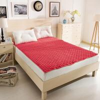 可机水洗珊瑚绒毯子折叠床垫软褥子定制