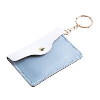 迷你便捷女式卡包多用零钱包钥匙扣 简约银行卡皮套pu皮公交卡套