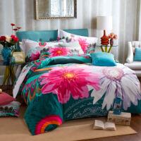 3D加厚磨毛四件套1.8米床�棉婚�c床上用品套件全棉床�坞p人被套定制 2.0m (6.6英尺)床
