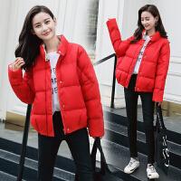 短款羽绒服女韩版2018冬装新款百搭时尚面包服小款学生外套潮