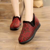 冬季老人奶奶棉鞋中老年加厚妈妈保暖鞋软底老北京布鞋女棉鞋