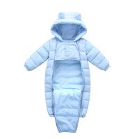 童装婴幼儿童连体衣羽绒棉衣冬款男女新生儿保暖外出哈衣爬服