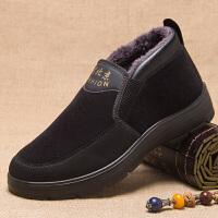 舒适老人冬鞋老北京男鞋加厚保暖爸爸鞋中老年布鞋冬天棉鞋子