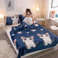 空调毯法莱绒毛毯三件套法兰绒单人床单加厚保暖学生宿舍被子午睡