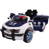 宝宝电动车警车可坐人玩具汽车儿童电瓶车大四轮汽车遥控车双驱动警车玩具可坐人电动汽车
