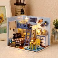 情景玩具小猫日记diy女孩手工玩具小屋手工制作拼装房子玩具建筑模型创意生日礼物男女