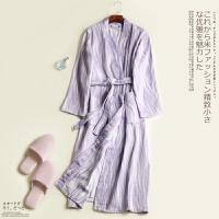 纯棉浴袍纱布春夏薄情侣日式开衫和服吸水浴衣儿童睡衣美容汗蒸服
