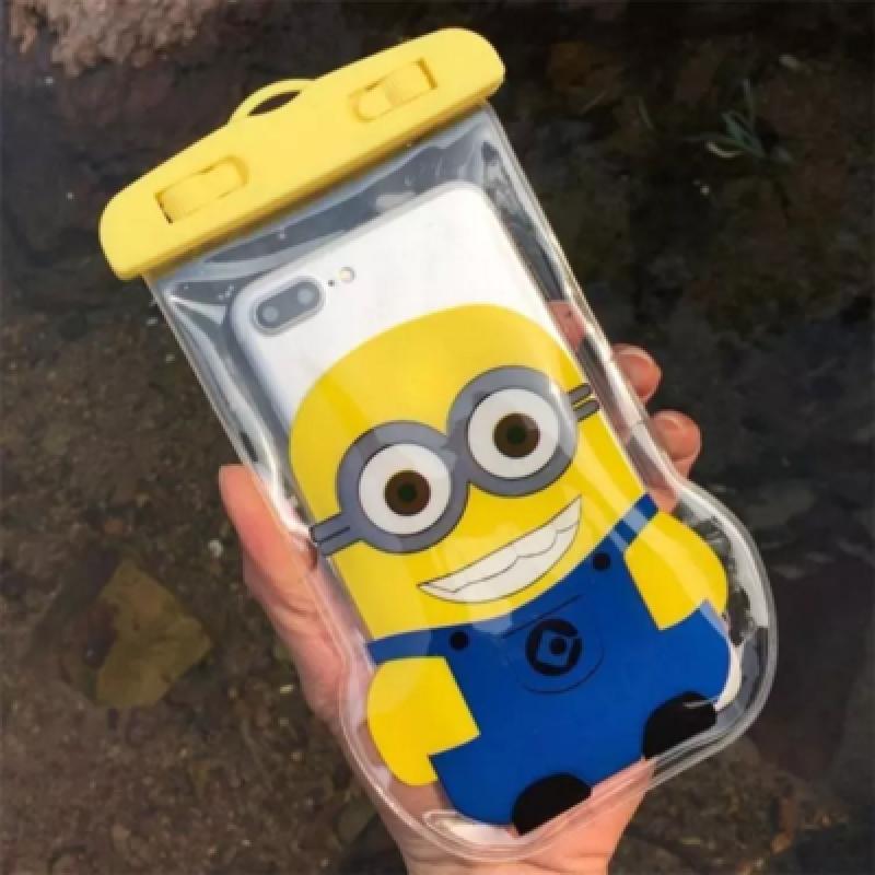 卡通触屏手机防水袋手机通用防水套温泉水下拍照游泳包防雨潜水套