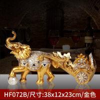 红酒架摆件隔断创意家居摆设树脂工艺品马欧式客厅酒柜装饰品 HF072-B 金色