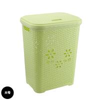 大号方形塑料脏衣篮带盖洗衣脏衣服收纳筐脏衣篓玩具收纳篮