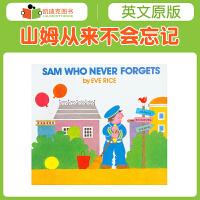 凯迪克美国进口 Sam Who Never Forgets 山姆从来不会忘记平装0-6岁图文绘本