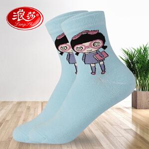 【6双装】浪莎袜子女四季可爱学生袜冬春秋袜子中厚棉袜青年袜女