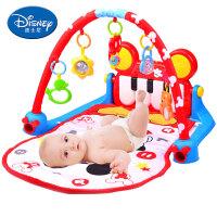 婴儿脚踏钢琴健身架器新生儿音乐游戏地毯宝宝摇铃玩具 2802(米奇系列 经典钢琴健身架)