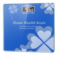 电子秤 精准健康称家用电子称家庭称迷你电子秤人体秤体重计体重秤女秤 蓝色