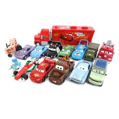 汽车总动员玩具车套装合金麦大叔货柜车组合赛车总动员3闪电麦昆