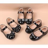女童皮鞋校�@演出鞋�和�黑色小皮鞋女�底夏季黑皮鞋公主鞋夏