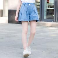 女童短裤中大童夏季薄款裤子儿童牛仔夏装百搭外穿