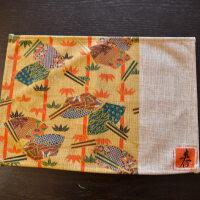 创意日式四季和风棉麻餐垫茶道布艺方形盘垫田园风餐具垫碗垫 25*35cm