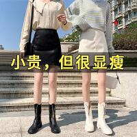 皮裙半身裙女春装包臀短裙高腰2020新款显瘦裙裤黑色小皮裙a字裙