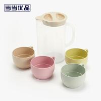 当当优品 麦香杯组合壶 凉水壶 果汁壶 含4只麦香杯 1600ML