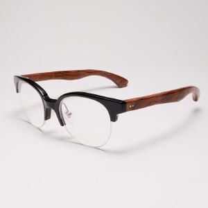 威古氏 近视镜框眼镜架木框复古时尚圆框可配镜 5020