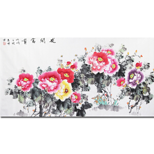 著名工艺美术师、著名根雕大师、华裔花鸟画家唐志林先生作品――花开富贵