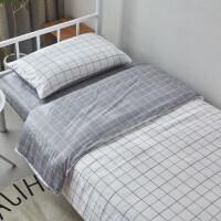 学生宿舍全棉三件套单人床单被套纯棉四件套床上用品被子褥六件套