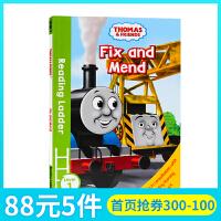 托马斯和朋友们Thomas and Friends Fix and Mend英文原版分级阅读入门级Reading La