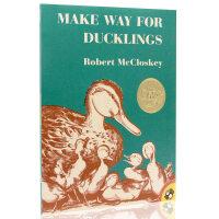 进口英文原版绘本 Make Way for Ducklings 让路给小鸭子 启蒙阅读儿童情商培养绘本 凯迪克金奖 汪