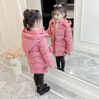 童装女童棉衣2018新款韩版加厚外套韩版儿童中长款洋气棉袄潮