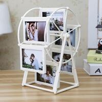 结婚一周年礼物创意DIY手工定制照片风车旋转相框摆台相册结婚七夕情人节礼物