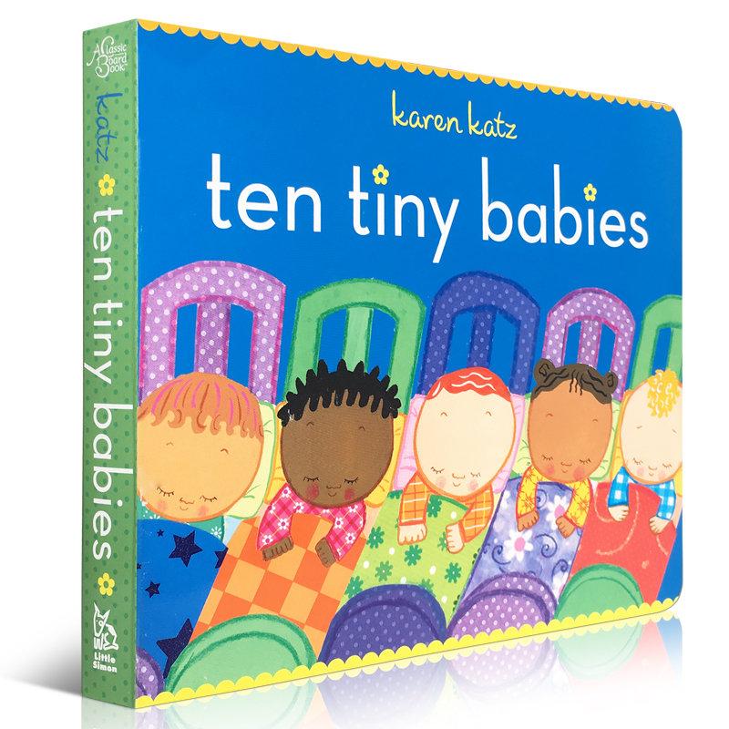 顺丰发货 Karen Katz Ten Tiny Babies 幼儿启蒙认知英文原版亲子读物 纸板书