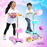 初学者女男孩3三4四轮闪光滑滑溜溜单脚踏板车6滑板车儿童2-10岁8