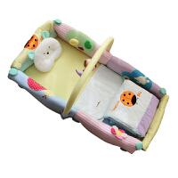 婴儿床布艺床中床抖音同款bb床多功能折叠便携式宝宝游戏床垫D28 自然乐园宝宝床 瓢虫床