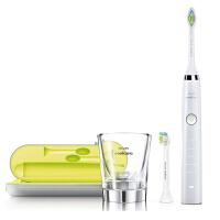 飞利浦电动牙刷HX9332 充电式成人声波震动牙刷钻石系列 充电玻璃杯 正品联保