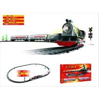 儿童奥乐怀旧古典蒸汽机车真电动轨道火车模型儿童拼搭玩具 浅灰色