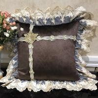 欧式轻奢沙发抱枕靠垫长方形抱枕套不含芯家用正方形客厅靠枕定做