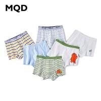 【2件3折券后�r:35】MQD童�b男童2020新款�和��棉�l�y�妊�中大童平角�四角���l�b