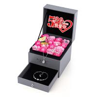 生日礼物送女友女生老婆结婚纪念日礼品项链玫瑰花香皂花礼盒