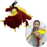 儿童驯龙玩具无牙飞天暴葛伦科公仔哈格芬飞龙玩偶恐龙玩具模型
