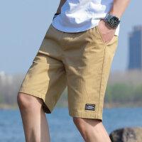 男士短裤男五分裤2021夏季新款宽松透气健身跑步休闲运动裤沙滩裤